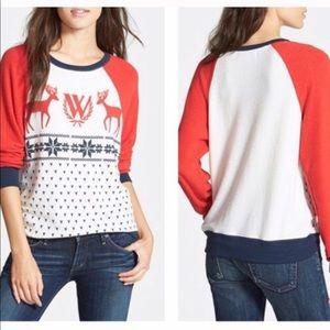 Women's Wildfox sweatshirt pull over long sleeve